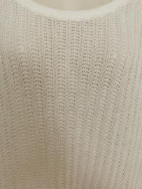 RAFAY Prachtige witte gebreide tuniek 46-50