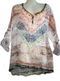 ZELI Aparte krinkel blouse ibiza 44-46