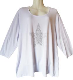 KIMMY Trendy stretch shirt met strass 50