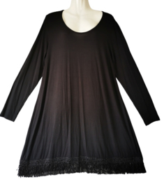 SYBEL+ Apart zwart stretch jurkje 46