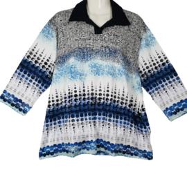 SETTER Mooi stretch shirt met kraag 50-52