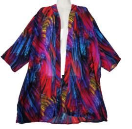 Q-NEEL Prachtige lange wijde chiffon blouse 46-48