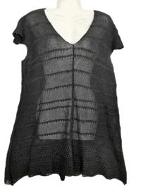 COTO Mooi zijde/linnen gebreid tuniek 44-46