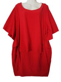 MAT FASHION Aparte crepe jurk 50