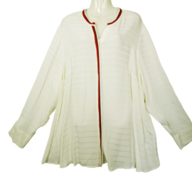 SAMOON Chique blouse in roomwit 50