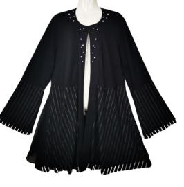 DORISSTREICH Prachtig zwart tricot vest 44-46