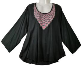 ANGEL CIRCLE Mooie wijde blouse 52