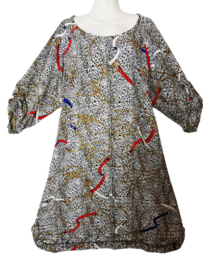 OPHILIA Mooie crepe jurk 52