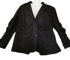 WHITE LABEL Chique zwart stretch jasje 48-50