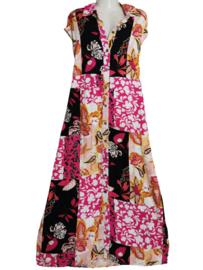 YESTA Leuke lange viscose doorknoop jurk 44-46