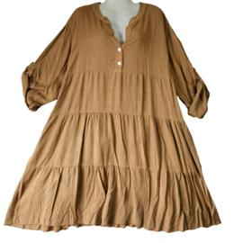 Trendy viscose jurk in A-lijn 46-50