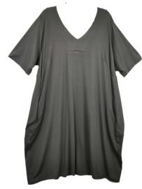 OPHILIA Trendy stretch tricot jurk 50