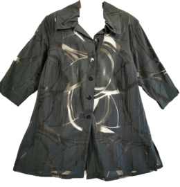 MONA LISA Prachtige opgewerkte blouse 46