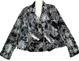 SYBEL+ Feestelijk velvet stretch vest/jasje 54