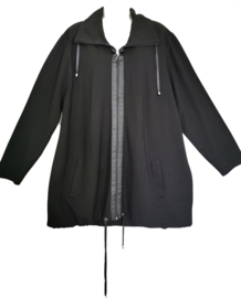 Q! Mooi zwart stretch vest/jasje 52