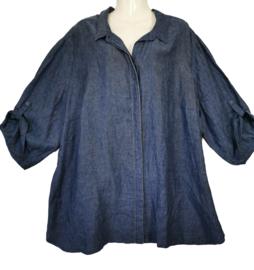 DORISSTREICH Mooie linnen blouse 56