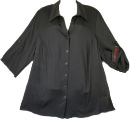 SEMPRE PIU Mooie zwarte blouse 48