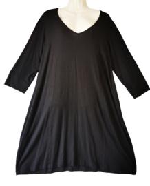 SYBEL+ Trendy zwart stretch jurkje 46-48