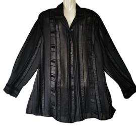 CHALOU Prachtige zwarte blouse 46-48