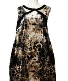 OPHILIA Aparte stretch velvet jurk 44-46