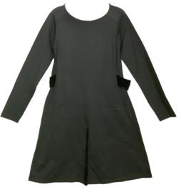 TWISTER Mooi chique zwart stretch jurkje 44