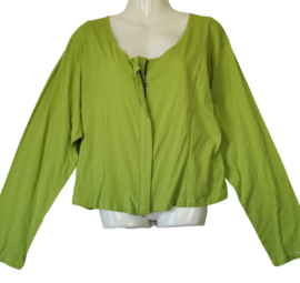 ULTIMATE MIKS Leuk groen stretch tricot vestje 50-52