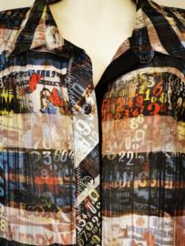 SEMPRE PIU Trendy wijde blouse 58