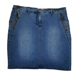 ZHENZI Gaaf stretch jeans rokje met binnen broekje 50