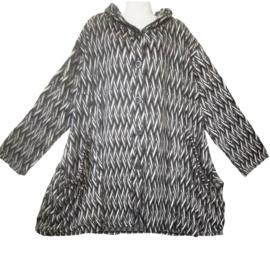 AKH Super leuk blouse/jasje met capuchon 48-60