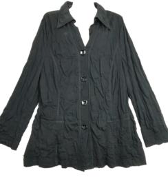 ERFO Mooi zwart krinkel vest 48-50