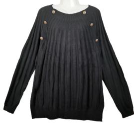 YESTA Mooie zwarte pullover Bracha  50