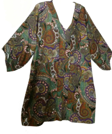 BELLOYA Prachtige oversized chiffon jurk 48