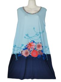 DIVERSA Mooie stretch zomer jurk 48