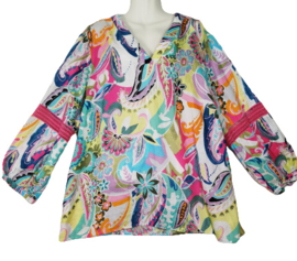 OPEN END Prachtige print blouse 50
