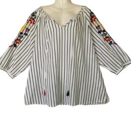SEMPRE PIU Heerlijke wijde katoenen blouse 46