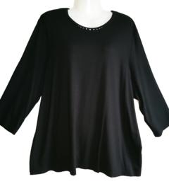 HABELLA Chique zwart stretch shirt 50