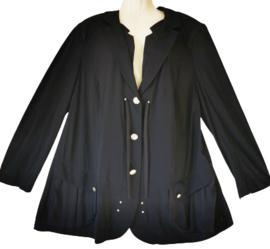 SEMPRE PIU Super mooi zwart stretch jasje  52 (travel stof)