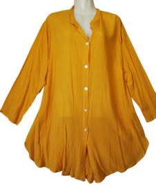 ANGEL CIRCLE Mooie lange krinkel blouse 48-50