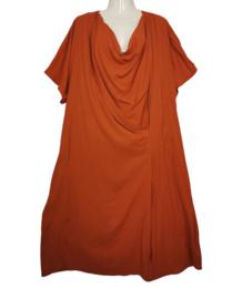 Q-NEEL Prachtige gedrapeerde jurk 50-52