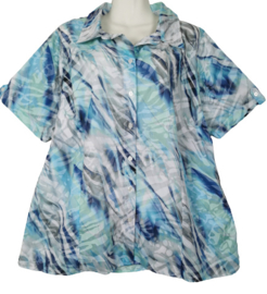 NAVIGAZIONE Mooie blauwe  print blouse 46