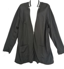 YESTA Leuk zwart tricot vest/jasje 48-50