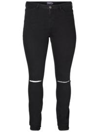 JUNAROSE Trendy zwarte stretch jeans 44
