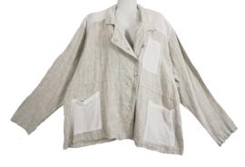 SARAH SANTOS Apart linnen blouse/ jasje 46-48