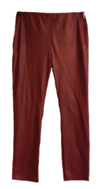 STUDIO Aparte leder look stretch broek 42-44