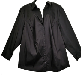 SAMOON Mooie zwarte stretch blouse 52