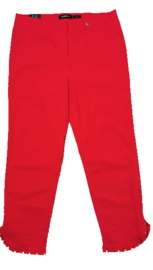 ROBELL Aparte rode stretch broek 42