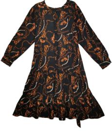 ZHENZI Aparte viscose jurk 50
