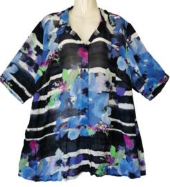 SEMPRE PIU Prachtige chiffon viscose blouse 52