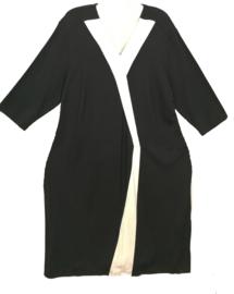 DORISSTREICH Aparte zwarte stretch jurk 52