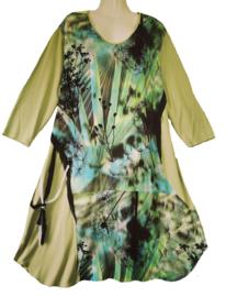 ONE O ONE Leuke wijde stretch jurk 48-50